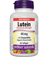 Webber Naturals Lutein Maximum Strength with Zeaxanthin