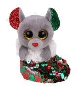 Ty Flippables Chipper The Christmas Sequin Mouse in Stocking Clip