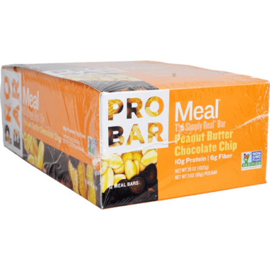 ProBar Simply Real Bar Peanut Butter Chocolate Chip Case