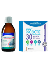 Progressive Healthy Brain Bundle with OmegEssential & Perfect Probiotic