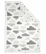 Perlimpinpin Reversible Plush Blanket Clouds & Trianges