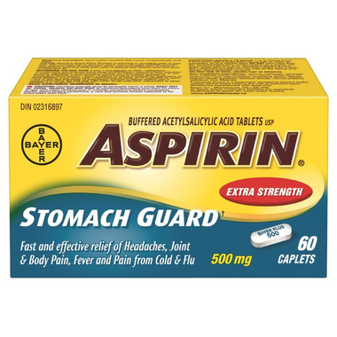 Aspirin 500 mg Stomach Guard with Calcium Carbonate Extra Strength