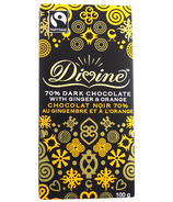 Divine Chocolate Fairtrade Dark Chocolate with Ginger & Orange