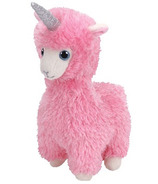 Ty Beanie Babies Lana the Pink Llama with Horn Regular