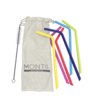 Montii Co Silicone Reusable Straw Set Rainbow