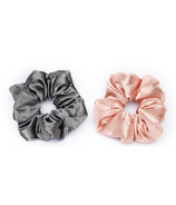 Kitsch Satin Pillow Scrunchies Blush/Gray