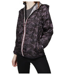 O8 Lifestyle Sloane Full Zip Packable Jacket Black Camo