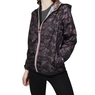 O8 Lifestyle Sloane Full Zip Packable Jacket Black Camo