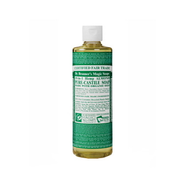 Dr. Bronner\'s Organic Pure Castile Liquid Soap Almond 16 Oz