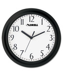 Lorell Black Profile Wall Clock