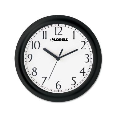 Lorell Black Profile Wall Clock