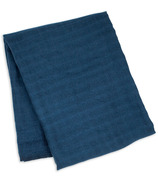 Lulujo Swaddle Blanket Bamboo Cotton Navy