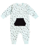 Miles Baby Turquoise Chalk Lines Playsuit