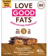 Love Good Fats Barres au Beurre D'Arachide Chocolaté
