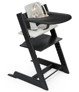 Stokke Tripp Trapp High Chair Complete Black Nordic Grey Cushion and Tray