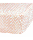 Perlimpinpin Fitted Crib Sheet Pink Chevron