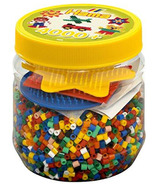 Hama Yellow Tub with 4000 Beads & Peg Boards