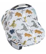 Little Unicorn Cotton Muslin Car Seat Canopy Dino Friends