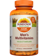 Sundown Naturals Men's Vegetarian Multivitamins