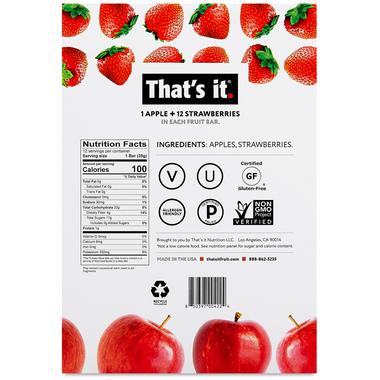 That\'s it. 1 Apple + 12 Strawberries Fruit Bar