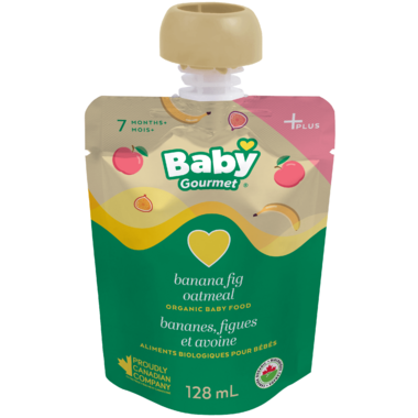 Baby Gourmet Plus Banana Fig Oatmeal Organic Baby Food