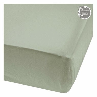 Perlimpinpin Bamboo Fitted Sheets Moss