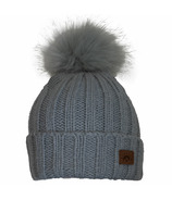 Calikids Cashmere Touch Hat with Pom Pom Grey