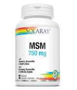 Solaray MSM 750mg