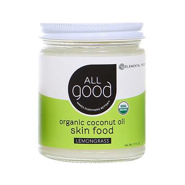 All Good Lemongrass Coconut Oil Skin Food