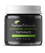 Nelson Naturals Activated Charcoal Toothpaste Peppermint