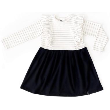 Today\'s Modern Bebe Child Ruffles Dress Black