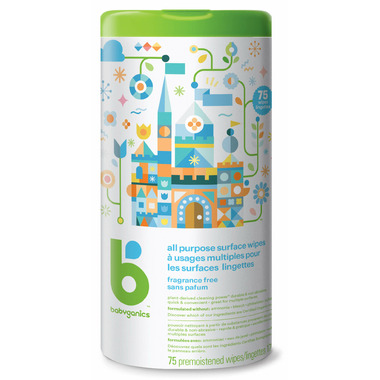 babyganics All Purpose Surface Wipes Fragrance Free - 75 count