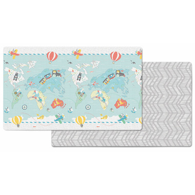 Skip Hop Double Play Reversible Playmat Little Travelers Herringbone