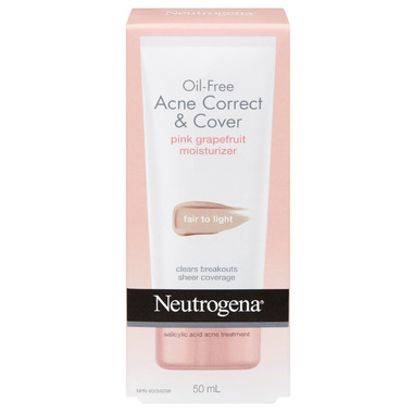 Neutrogena Oil Free Acne Correct & Cover Pink Grapefruit Moisturizer