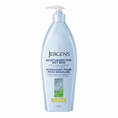 Jergens Moisturizer for Wet Skin with Green Tea Oil