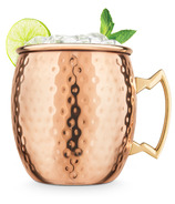 Final Touch Moscow Mule Hammered Mug in Copper