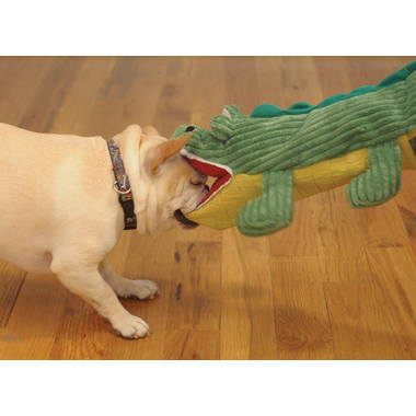 Hugglehounds Big Billy The Interactive Gator Squeak Toy for Dogs