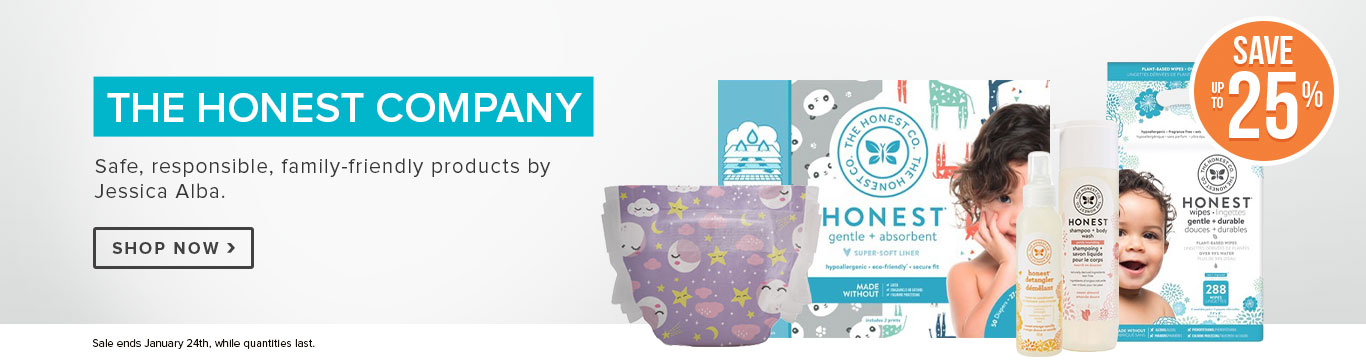 Save up to 25% on The Honest Company