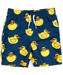 Appaman Mid Length Swim Trunks Retro Duck