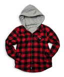 Appaman Glen Hooded Shirt Red & Black Check