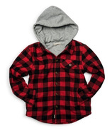 Appaman Glen Hooded Shirt Red & Black Check