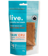 Live Organic Cheesy Brazil Nut Flavoured Crackers