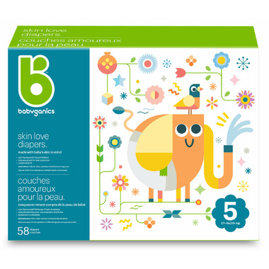 babyganics Skin Love Ultra Absorbent Diapers Size 5