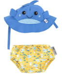 ZOOCCHINI Swim Diaper & Sun Hat Set Whale