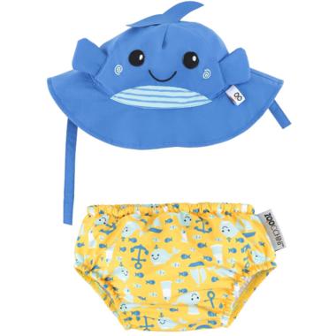 ZOOCCHINI Swim Diaper & Sun Hat Set Whale