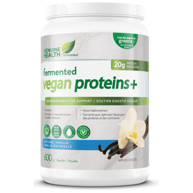 Genuine Health Fermented Vegan Proteins+ Natural Vanilla
