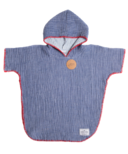 Tofino Towel Co. Pebble Kids Poncho Indigo