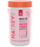 Natreve Grass Fed Whey Protein Powder Strawberry Shortcake