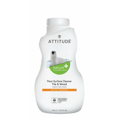 ATTITUDE Nature+ Floor Surfaces Tiles & Wood Cleaner Citrus Zest