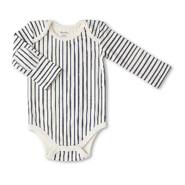 Petit Pehr Long Sleeve One Piece Stripes Away Ink Blue